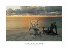 TROPICAL CIELO TRAMONTO orizzonte FOTO ART PRINT costiere Chill Out 50x70