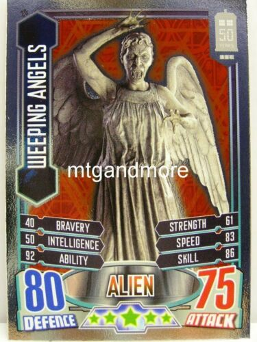 #020 Weeping Angels Foil Alien Attax Doctor Who 50th Anni