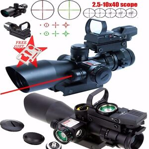 Tactical-2-5-10X40-Rifle-Scope-Red-Laser-amp-Holographic-Green-laser