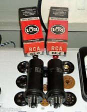 2 RCA 6L6 metal amp tubes NOS NIB NEW USA factory matched Gm and plate current