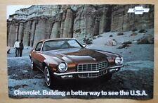 CHEVROLET CAMARO orig 1972 USA Mkt Large Format Showroom Poster Brochure -Z28 SS