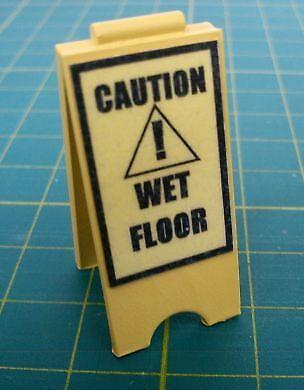 1//12 Dolls House Delph Miniatures Handmade A Board /'Caution Wet Floor/' Sign M204