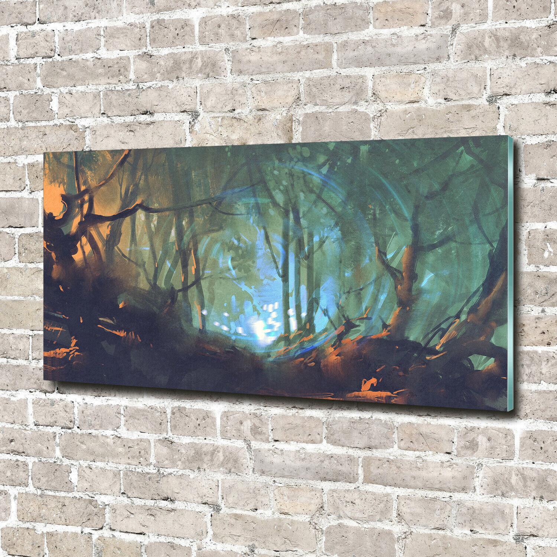 Wandbild aus Plexiglas® Druck auf Acryl 140x70 Landschaften Mystischer Wald