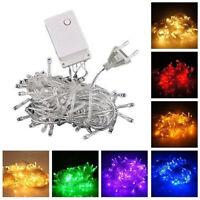 10m 100 LED Lamp Christmas Wedding Home Party Decor Fairy String Light UK EU