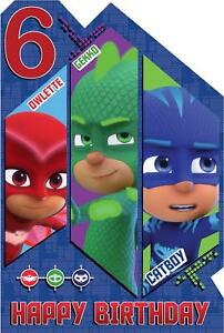 Image Is Loading PJ Masks Age 6 Today 6th Birthday Card