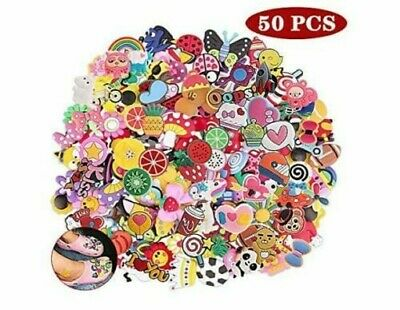 50 PVC Bracelet LOT Different Mixed Shoe Charms For Croc And Jibbitz Wristband