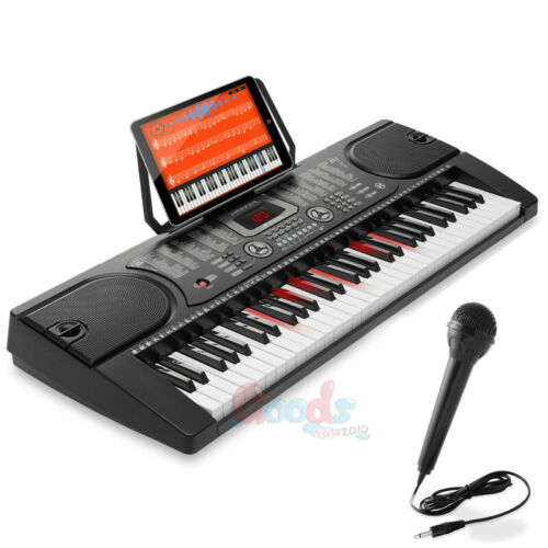 61 Key Digital Music Piano Keyboard Pro Electronic Musical Instrument /& Mic