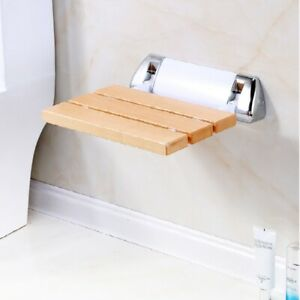 Sensational Details About Beech Folding Shower Seat Wall Mounted Chair Shower Stool Bathroom Chair Elder Ocoug Best Dining Table And Chair Ideas Images Ocougorg