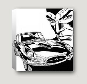 Diabolik  canvas  tela quadro  arredo design 40 cm x 40 cm   (bordo da 2 cm)