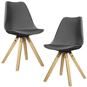en.casa] 2x sedie da pranzo design legno grigio similpelle plastica ...