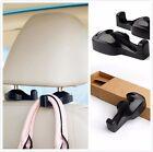 2 X Pcs Vehicle Car Seat Headrest Shopping Bag Coat Hanging Hanger Hook (Black)
