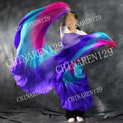 purple to light purple free shipping bag BELLY DANCE 100/% SILK VEILS 5.0 M//M