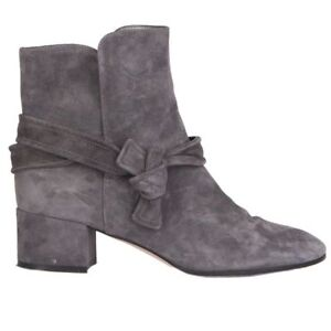cc76f540f02 Details about 54851 auth GIANVITO ROSSI grey suede leather Ankle Boots  Shoes 39