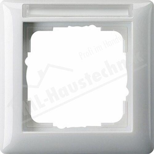Gira 109103 Rahmen Schriftfeld 1-fach reinweiss Standard 55 senkrecht waagerecht
