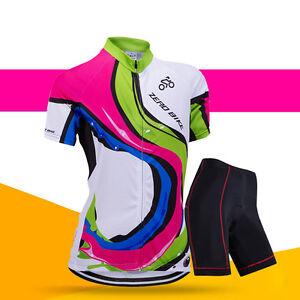 Women Cycling Bike Short Sleeve Jersey&Short Set Bicycle Sportwear Clothing Suit