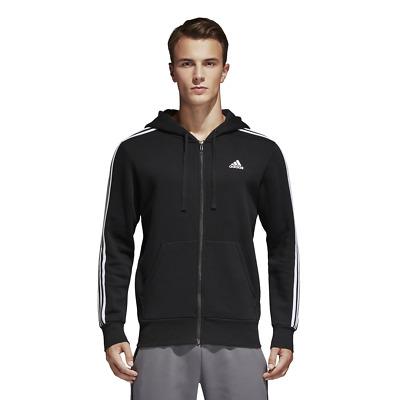 pelle truffatore esterno  Adidas Men Hoodie Full Zip Running 3 Stripes Training Black Essential New  B47368   eBay