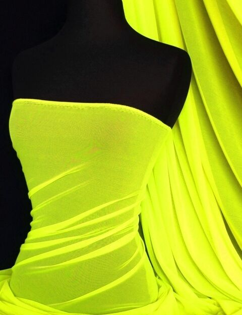 Flo yellow power mesh stretch fabric RS908 FLYL