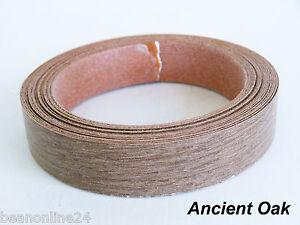 iron on melamine veneer edging tape ancient oak 21mm x. Black Bedroom Furniture Sets. Home Design Ideas