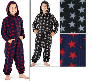 Selena Girl Kids Children Fleece One Piece Pyjama Jumpsuit Sleep Suit