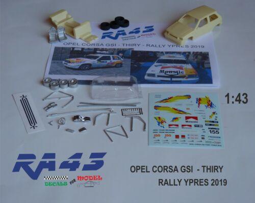 1//43 Kit OPEL CORSA GSI THIRY RALLY YPRES 2019