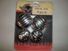 Kawasaki Vulcan 4 Ball Milled Chrome Shock Nut Covers K53020-233