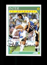 Dino Baggio Inter Mailand 1992 Sammel Card  Original Signiert+ A 156943