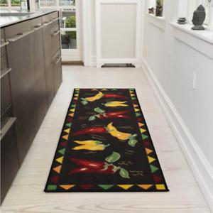 Ottomanson Siesta Collection Kitchen Design Non Slip Runner Rug 20 X 59 Ebay