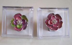 Women-039-s-Flower-Pattern-with-Rhinestones-Fashion-Ring-Watch