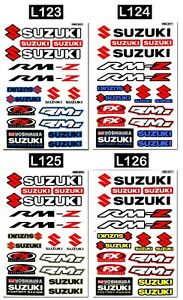 Details About Graphic Set Suzuki Vinyl Decals Motocross Bike Helmet Logo Stickers Aufkleber