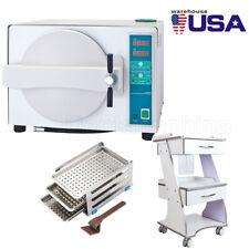 Us Dental 18l Autoclave Medical Automatical Steam Sterilizer Trolley Tool Cart