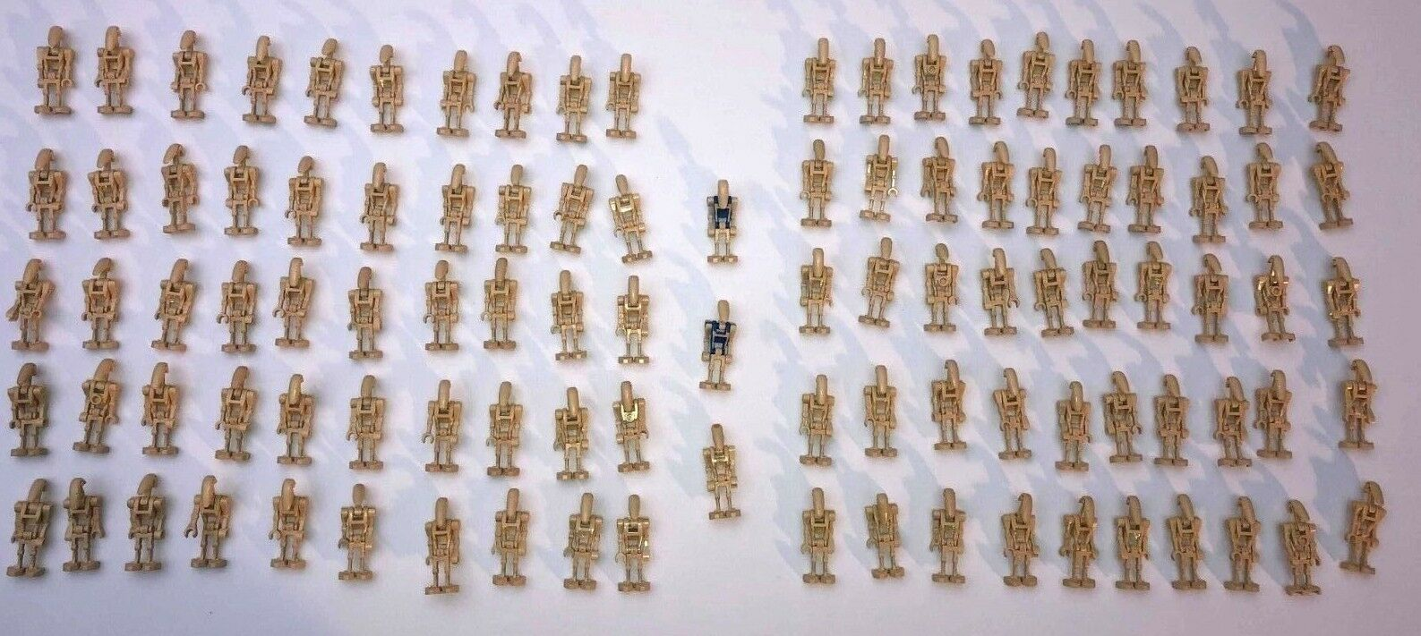 LEGO lot of 103 Battle Droid  Minicifras Minifigs Bulk Original w  gituttio, blu  con il 100% di qualità e il 100% di servizio