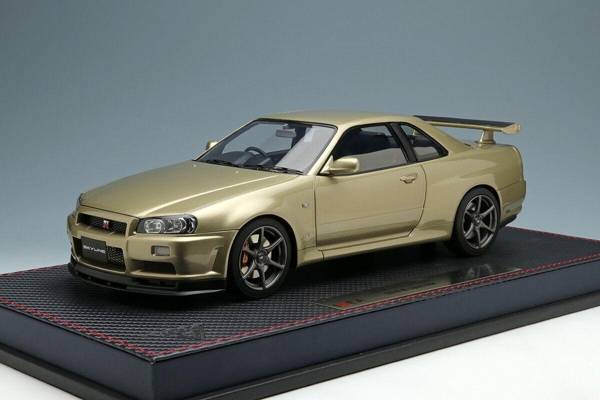 MakeUp IDEA IM031A 1 18 Nissan Skyline GT-R BNR34 M-spec Nur 2002 Silica Breath