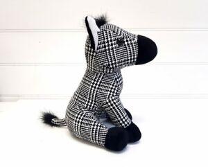 Zebra-Animal-Design-Fabric-Door-Stop-Stopper-Home-Decor-Black-and-White