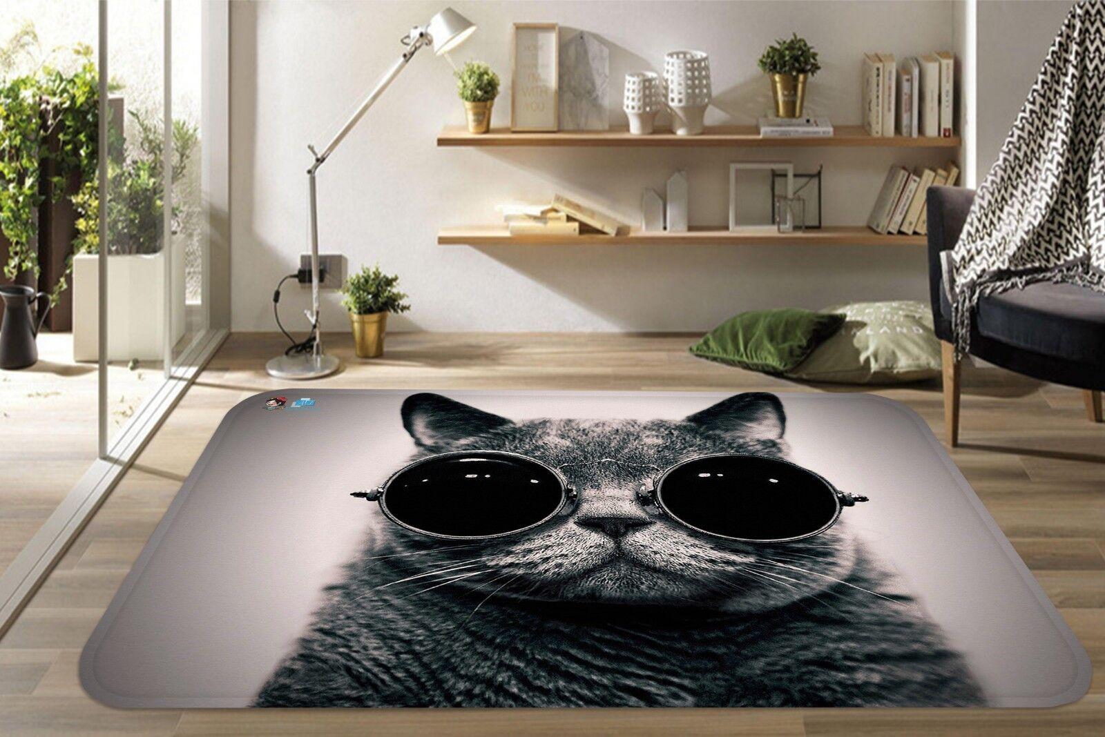3D FIGLIO gatto Cool 688 tappetino antiscivolo tappeto camera Tappetino Qualità Elegante foto Tappeto UK