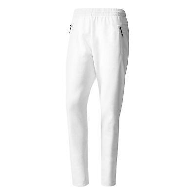 Adidas Stadio Felpa In Pile Pantaloni Da Uomo Bianco Comodo Caldo Corsa Calcio