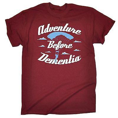 Adventure Before Dementia Parachute WOMENS T-SHIRT Skydiving Funny birthday gift