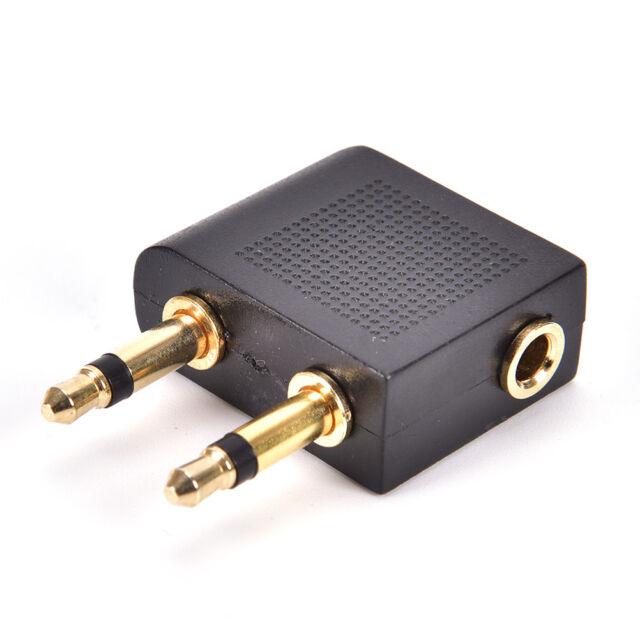 Airplane AirlineS2Gavel Headphones Jack Audio 3.5mm Adapter Converter 9C
