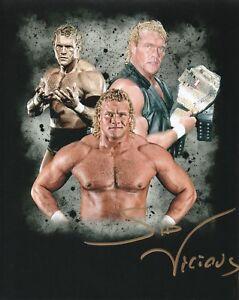 WWE-SIGNED-PHOTO-SID-VICIOUS-SIGNED-WRESTLING-PROMO-PSYCHO-WCW-WWF