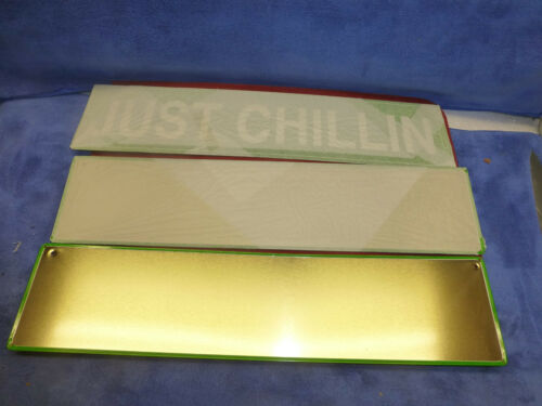 "LOT OF 3 /"" JUST CHILLIN /"" SIGN FOR DORM BAR GAME ROOM"
