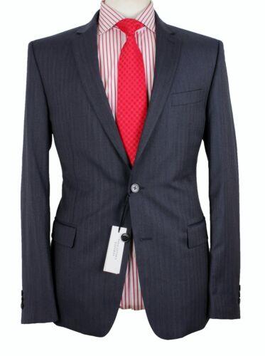 Suit Versace Tonal lana Collection Blue Bnwt It50 Stripe Uk40 Mid 100 qr0qwtB