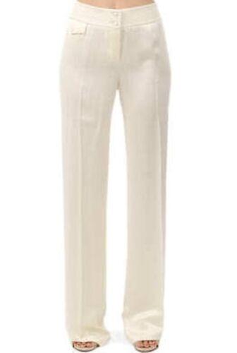 Leg 46 Rrp Mcqueen Alexander Ivory 100 1330 Ny Silk Bukser Wide PpHqw