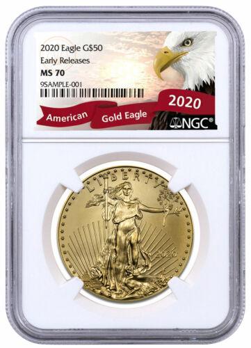 2020 1 oz Gold American Eagle $50 NGC MS70 ER Exclusive Eagle Label SKU59582