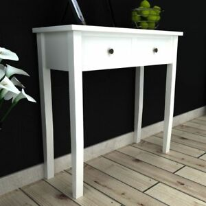 white dressing console table living room dining room table with two rh ebay co uk