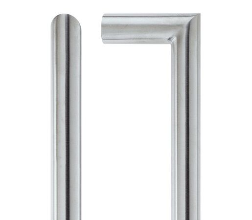 Pair Of MitROT Straight Door Pull Handle Satin Stainless Steel Finish 19 x 425mm