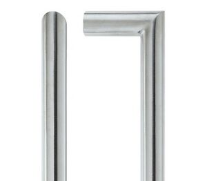 Pair Of Mitred Straight Door Pull Handle Satin Stainless Steel Finish 21 x 425mm