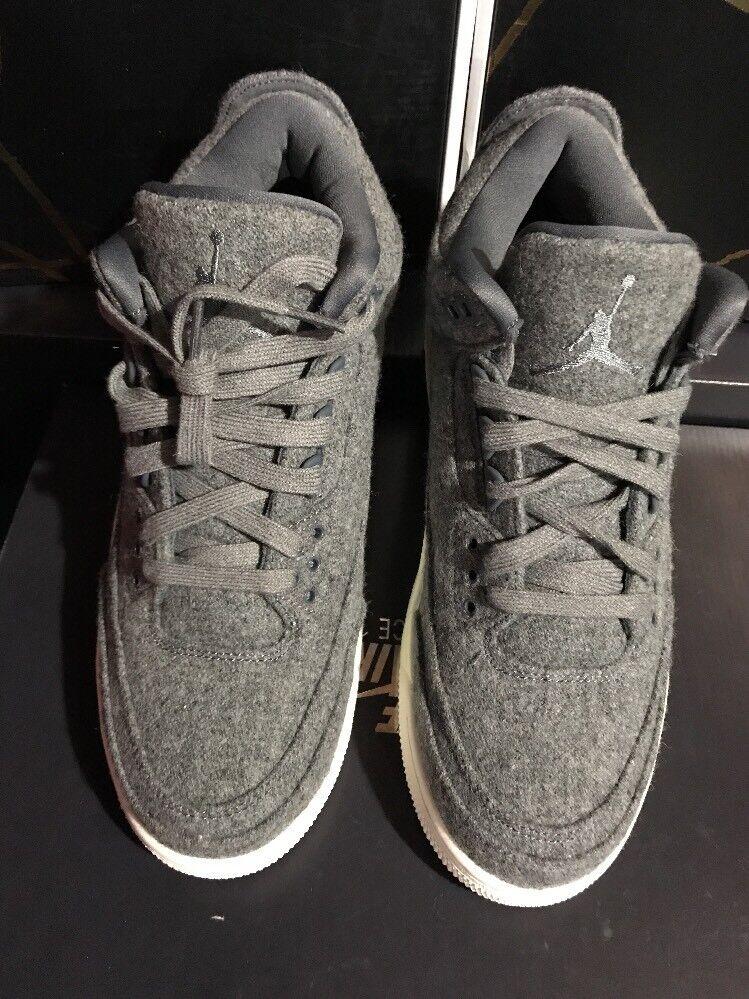 Nike air jordan 3 segel retro wolle sz 9,5 dunkeln segel 3 zement og 854263-004 c27201