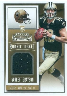 Garrett Grayson jersey relic football card 2015 Panini Contenders Rookie #RTSGG | eBay