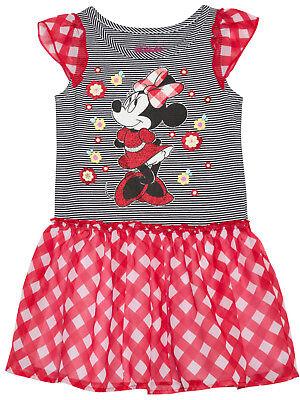 girls toddler pillowcase dress minnie mouse disney set chunky bead clip 3-4 yr
