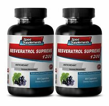 Anti-Aging Booster - Resveratrol Supreme 1200mg - Fat Oxidation Suport Pills 2B