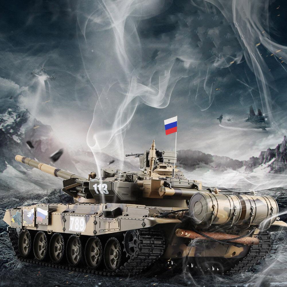 HengLong 1∶16 RC Tank 2.4Ghz Russian T-90 Battle Smoke Sound RTR Military Model